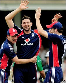 Paul Collingwood, Steve Harmison and James Anderson