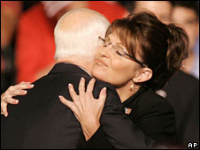John McCain and Sarah Palin in Dayton, Ohio, 29 Aug