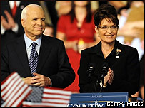 Sarah Palin con John McCain
