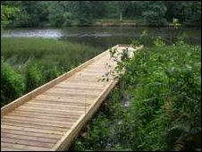 New angling platforms at Cannop Ponds