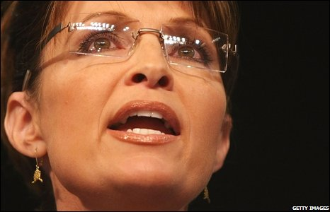 Sarah Palin addressing Republican supporters in Ohio