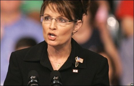 Sarah Palin gives her speech to Republican supporters