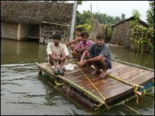 Flood affected people in India