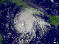 Imagen satelital de Gustav