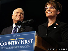 John McCain and Sarah Palin (29 August 2008)