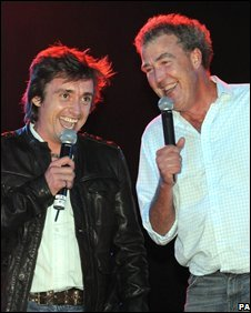 Top Gear presenters Richard Hammond (left) and Jeremy Clarkson at the switching on ceremony for the Blackpool Illuminations