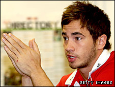 Danny Cipriani in a press conference