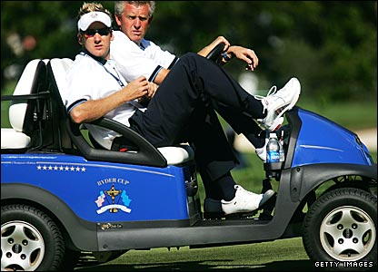 Ian Poulter and Colin Montgomerie