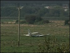 Plane crash at Exminster