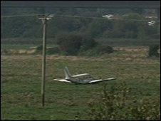 Plane crash at Exminster