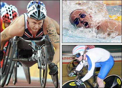 Paralympians Dave Weir (left), Dave Roberts (top) and Jody Cundy (bottom)