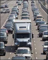 سيارات تغادر لويزيانا