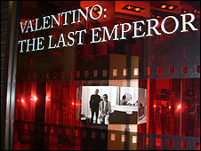 Valentino's Venice store has been transformed into an advert for his film