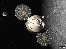 Orion - artist's impression (Nasa)