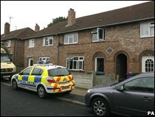 Police outside a house in Ashcombe Road, Old Swan