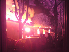 Church blaze (pic Cherry McCarthy)