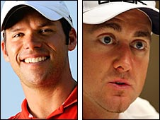 Paul Casey (left) and Poulter earn their third and second Ryder Cups caps respectively