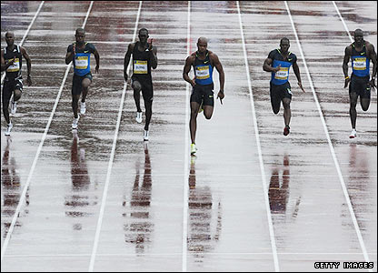 The men's 100m race