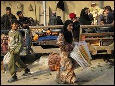 A market in downtown Falluja in February 2008