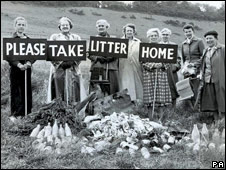 First anti-litter campaign