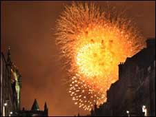 bank of Scotland fireworks