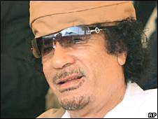 Muammar Gaddafi in Benghazi, Libya, 30 August 2008