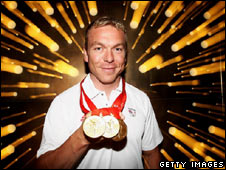 Gold medal winning cyclist Chris Hoy