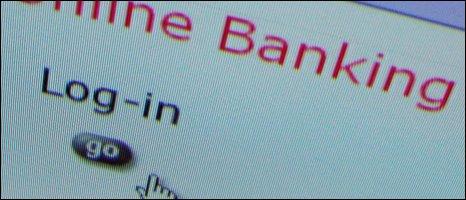 Online bank login screen, BBC