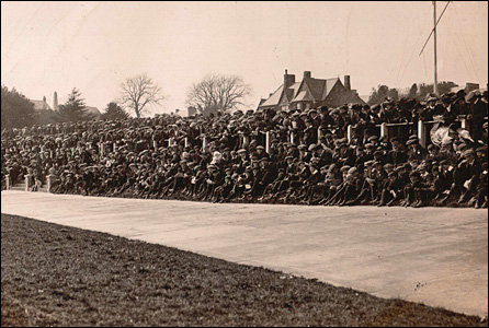 Spectators at Carmarthen velodrome