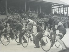 Carmarthen velodrome in the early 1900s