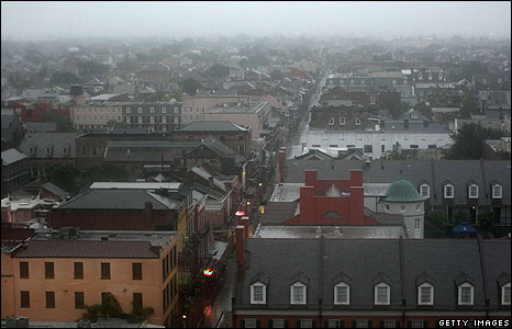Dawn over Bourbon Street in New Orleans