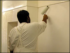painting and decorating student