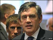 Gordon Brown, pictured at the EU summit on Georgia