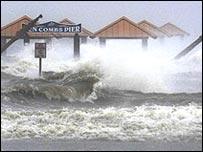 Ураган Густав на побережье американского штата Луизиана
