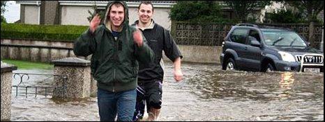 Flooding in Ballymena - pic Shelley Garrett