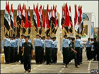 عرض عسكري عراقي  في الأنبار