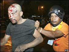 Thai protester hurt in clashes