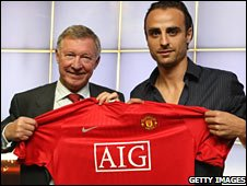 Sir Alex Ferguson and Dimitar Berbatov