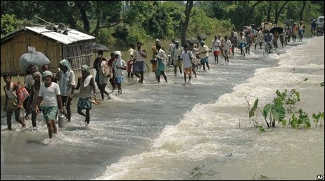 Villagers flee to safety in Madhepura district