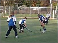 Jugadores de hockey