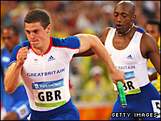 Craig Pickering and Marlon Devonish were part of Britain's 4x100m relay squad which failed to make it to the final
