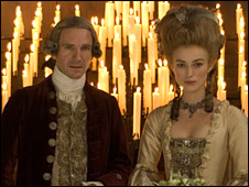 Keira Knightley and Ralph Fiennes