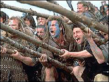 Scene from Braveheart, which celebrated the life of William Wallace