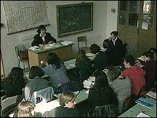 High school classroom in France (archive)