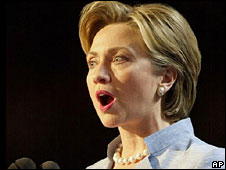 Hillary Clinton speaks at the Democratic convention in Los Angeles, 2000
