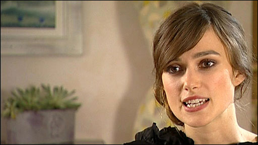 Keira Knightley talks about her new film, The Duchess,