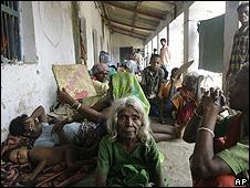 A relief camp in Bihar