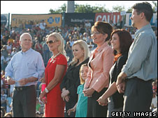 Members of the McCain and Palin families appear in Washington, Pennsylvania, 30 Aug