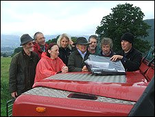 Volunteers at the Castlerigg dig
