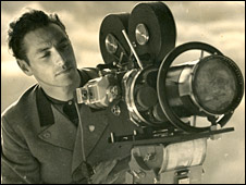 Hans Ertl with his camera